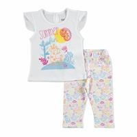 Kız Bebek İlk Yaz Tema Tshirt-Tayt Takım