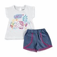 First Summer Theme Baby Girl T-shirt Short Set