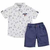 Summer Baby Boy Sailor Shirt Short Set