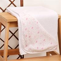 Heart Patterned Baby Towel White
