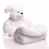Rabbit Sleeping Friend and Plush Blanket