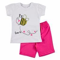 Yaz Kız Bebek Tüllü Kanat Arıcık Tshirt-Şort