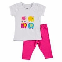 Yaz Kız Bebek Mobil Kulak Filler Tshirt-Tayt