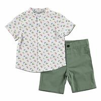 Sail Cotton Short Sleeve Shirt - Short 2 pcs Set