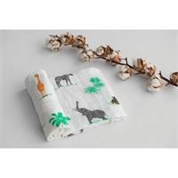 Winter Safari Patterned Muslin Baby Blanket