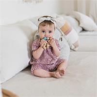 Organic Checkered Baby Girl Sleeveness Short Romper
