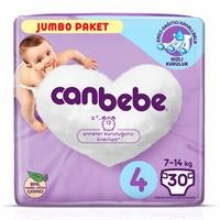 4 Beden Jumbo Paket Maxi Bebek Bezi 7-14 kg 30 adet