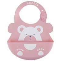 Luxury Silicone Baby Bib Pink