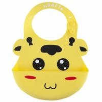 Lux Silicon Baby Bib Yellow