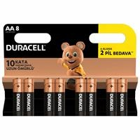 Alkaline AA 6+2 Pieces Battery