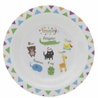 Cute Patterned Baby Covered Food Plate 1 pcs