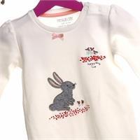 Kız Bebek Tavşan Aplikeli Tulum