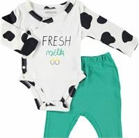 Fresh Milk Baby Bodysuit Trousers 2 Pack Set