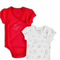 Little Whale Theme Baby Bodysuits 2 Pack