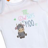 The Cow Says Moo Short Sleeve Bodysuit