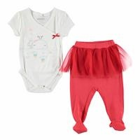 Little Whale Theme Baby Bodysuits Trousers Set