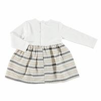 Baby Girl Embroidered Striped Dress