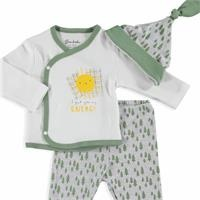 Sun Baby Boy Bodysuits Hat Footed 3 pcs Set