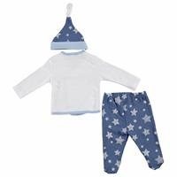 Star Penguin Baby Boy Bodysuit Hat Footed Pants Set