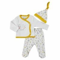 Happy Family Baby Girl Bodysuit Hat Footed Pants