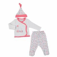 Colorful Balloon Baby Girl Bodysuit Hat Footed Pants