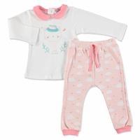 Scout Cat Baby Girl Collar Sweatshirt Trousers 2 pcs Set