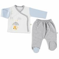 Little Fox Interlock Baby Bodysuits Footed Pants