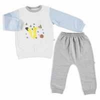 Little Fox Interlock Baby Tracksuit Set
