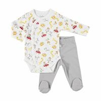 Happy Animals Baby Bodysuits Footed Pants 2 pcs Set