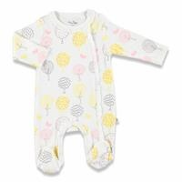 Colorful Leaves Baby Footed Romper