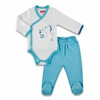 Play with Me Baby Bodysuits Footed Trousers Set