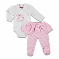Magical Unicorn Baby Bodysuit Skirt Detailed Footed Trousers