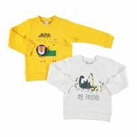 Bebek Baskılı 2'Li Uzun Kollu Sweatshirt