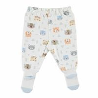 Teddy Bear Organic Baby Footed Trousers