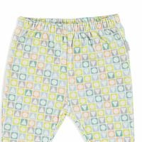 Geometric Organic Baby Footed Trousers
