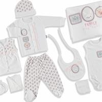 Baby Family Newborn Hospital Pack 10 pcs (Newborn Baby Girl Clothes Toddler Infant Set)