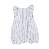 Star Embroidered Texture Baby Girl Short Romper