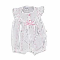 Star Embroidered Texture Baby Short Romper