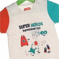 Super Heroes Baby Boy Short Sleeve Jumpsuit