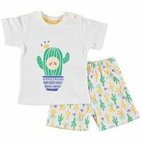 Baby Boy Flower Theme Tshirt Short Set