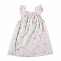 Ruffled Shoulder Detailed Texture Baby Girl Dress