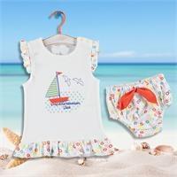 Kız Bebek Eğlenceli Yaz Fırfırlı Tshirt