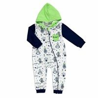 Robots Hooded Baby Boy Rompers