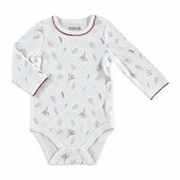 Winter Floral Patterned Long Sleeve Baby Bodysuit