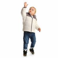 Kış Bebek Basic İki Renkli Kapüşonlu Mont