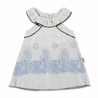 Summer Baby Girl Poplin Ruffle Detailed Dress