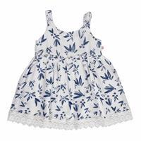 Summer Baby Girl Flower Patterned Short Sleeve Dress