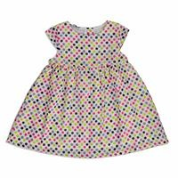Summer Vual Short Sleeve Crew-Neck Baby Girl Dress