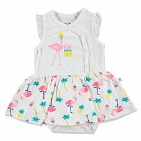 Yaz Kız Bebek Flamingo Elbise Body