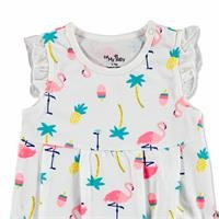 Summer Baby Girl Flamingo Jumpsuit